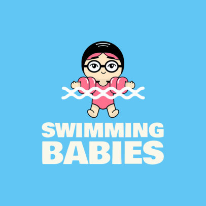 Baby Swimming Logo Maker 1576e