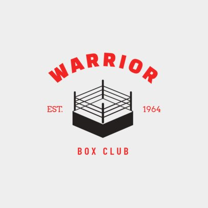 Boxing Logo Generator with a Boxing Ring 1582a