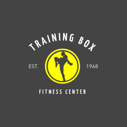 Boxing Logo Design Template for a Boxing Fitness Center 1582b