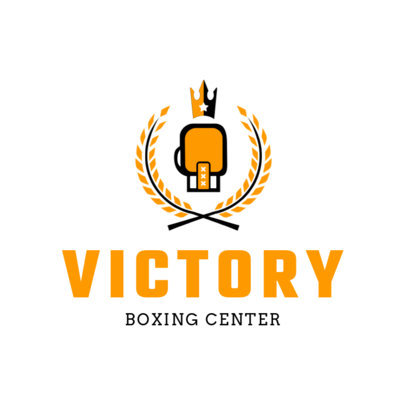 Boxing Logo Maker for a Boxing Center 1580d