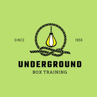 Boxing Logo Maker with Speed Bag Icon and Rope 1580e