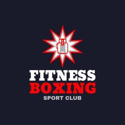 Fitness Boxing Logo Maker for Sports Clubs 1583