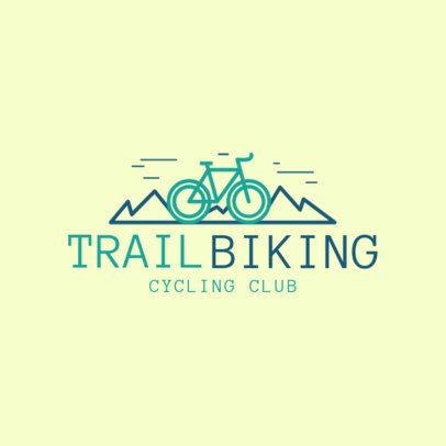 Mountain Bike Logo Creator for a Cycling Club 1571a