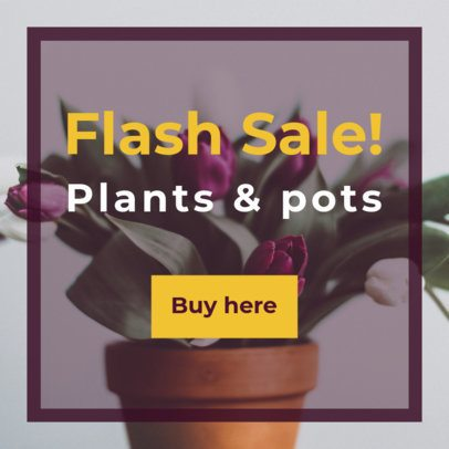 Plant Store Banner Ad Template 532c