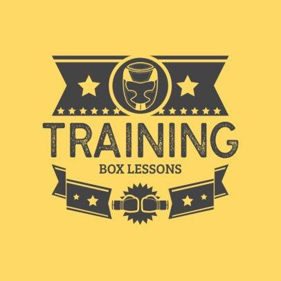 Boxing Club Logo Maker for Box Lessons 1581b