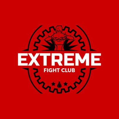 Boxing Logo Template for a Fight Club 1581c