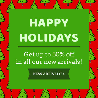 Holiday Discount Ad Design Template 775b