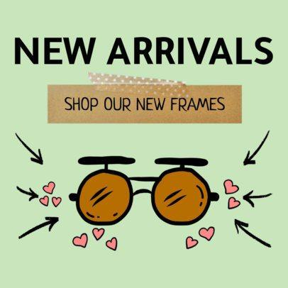 Banner Maker for New Arrivals on Optical Store 536b
