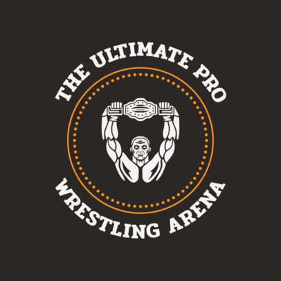 Wrestler Logo Maker for a Wrestling Arena 1541a