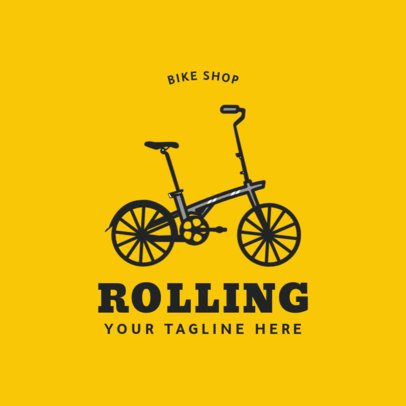 Biking Logo Maker for a Bike Shop 1574c