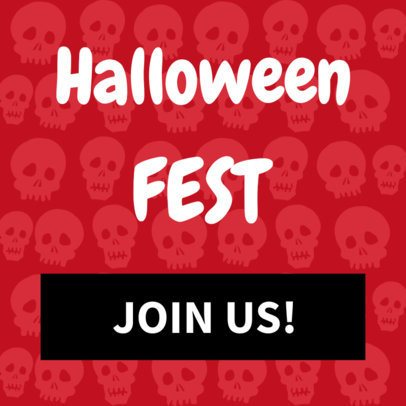 Banner Template for a Halloween Fest 288c