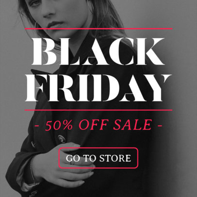 Black Friday Ad Banner Generator for a Sale 751b