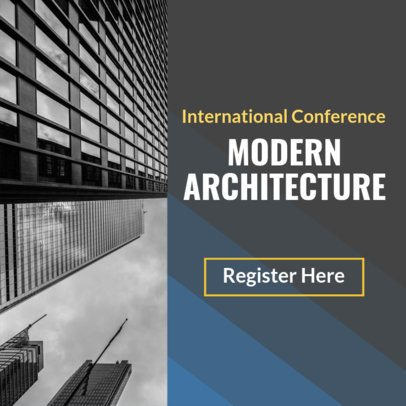 Banner Maker for Architecture Conference 610e