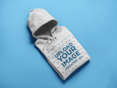 Folded Heather Pullover Hoodie Mockup 24212