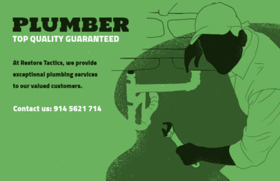Flyer Design Template for a Top Quality Plumber 716d