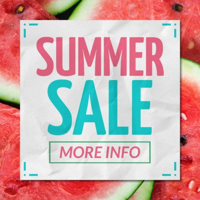 Summer Sale Banner Design Template with Colorful Background 546b