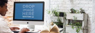 iMac Mockup Template at a Creative Outdoors Office a4913