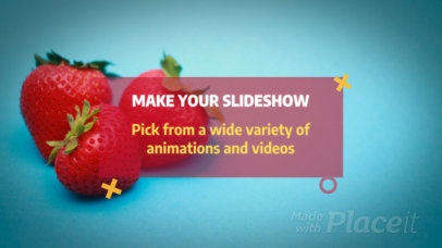 Slideshow Video Maker with Modern Text Animations 410