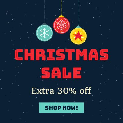 Christmas Sale with Ornaments Ad Banner Maker 785