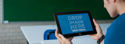 Windows Surface Tablet Mockup at School a4497