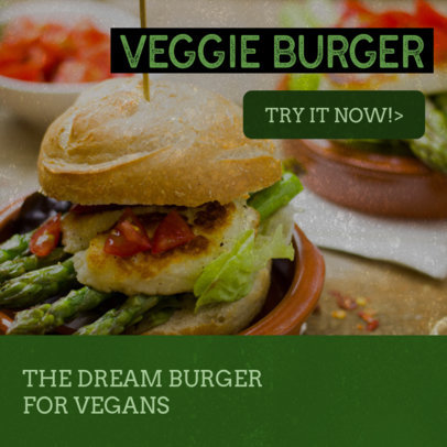 Promotional Banner Maker for Vegan Burger Restaurants 372a