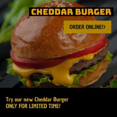 Restaurant Banner Maker for Burger Restaurants 372c