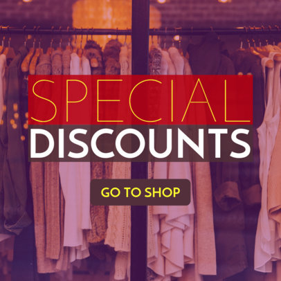 Store Discounts Ad Maker 543b