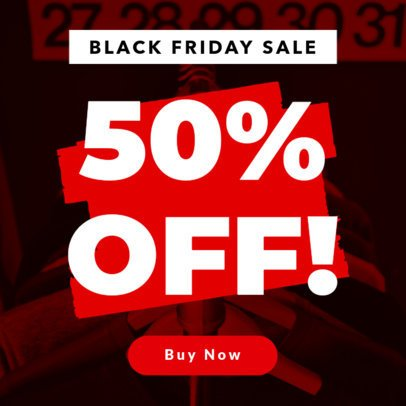 Ad Maker for a 50% Discount Black Friday Sale 747a