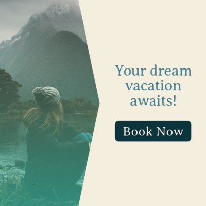 Online Banner Template for Travel Tours 542b