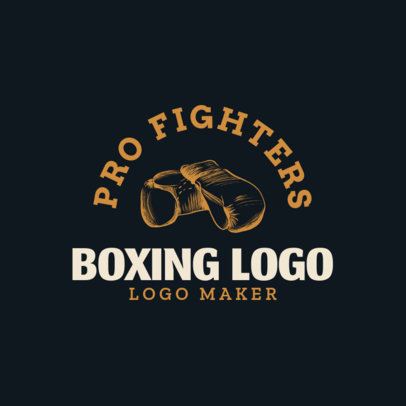 Boxing Logo Creator with Hand Drawn Boxing Gloves Clipart 1584