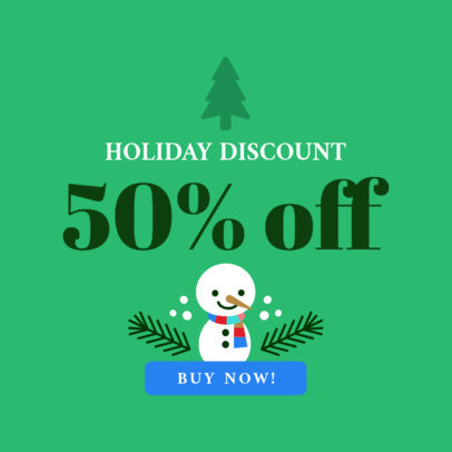 Banner Maker for Christmas Discounts with Tree Graphics 776b
