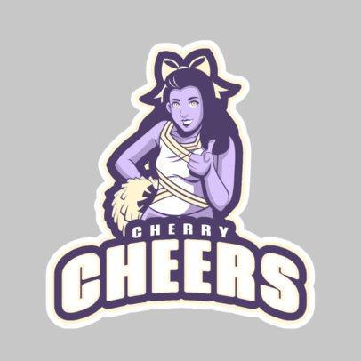 Cheerleader Logo Maker with a Cheerleader Illustration 1595