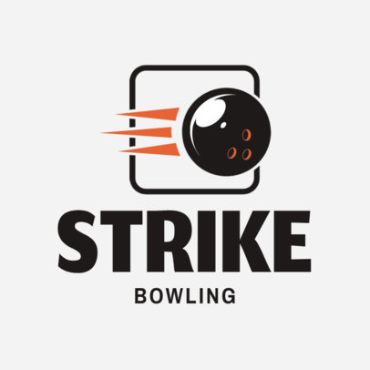 Bowling Team Logo Design Template with a Bowling Ball Graphic 1588b