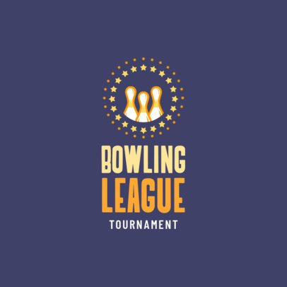 Bowling Logo Maker for Bowling Leagues 1588c