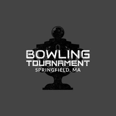 Bowling Logo Generator for a Bowling Tournament 1585a