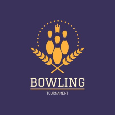 Online Logo Maker for a Bowling Tournament 1589e