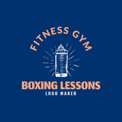 Online Boxing Logo maker for Fitness Gym 1584d