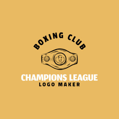 Boxing Logo Creator with Champion's Belt Clipart 1584e