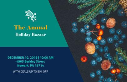 Horizontal Xmas Flyer Maker for an Annual Holiday Bazaar 865e