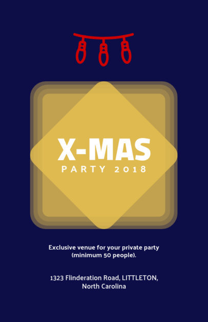 Christmas Flyer Generator for an exclusive X-Mas Party 842a