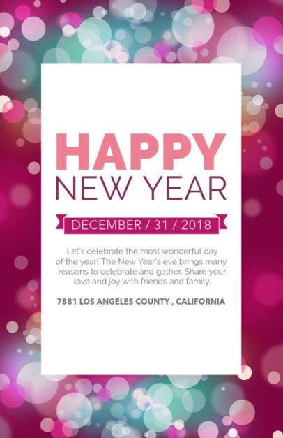 Holiday Flyer Maker for New Year's Eve Party 848b