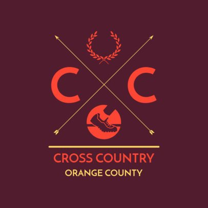 Cross Country Logo Maker with Trail Shoes Clipart 1568d