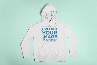 Pullover Hoodie Mockup Lying on a Flat Surface 23843