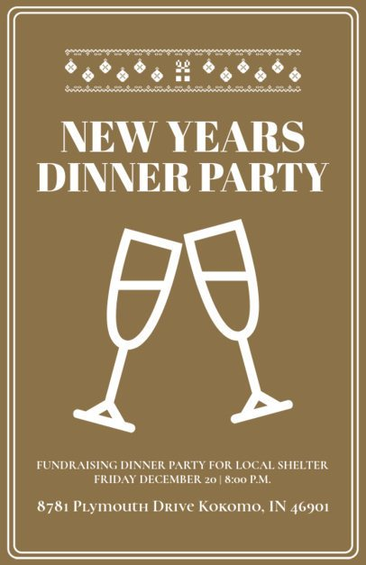Holiday Flyer Maker for an NYE Party 844e
