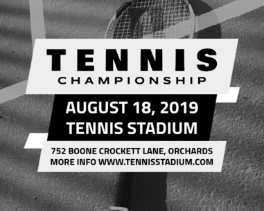 Tennis Championship Vinyl Banner Template 792d