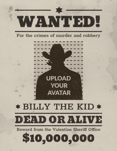 Wanted Poster Generator 930
