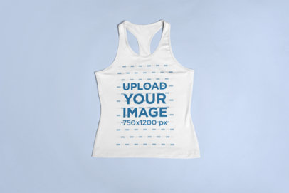 Mockup of a Racerback Tank Top Lying Over a Surface 23850