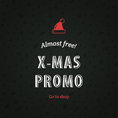 Holiday Banner Maker for an Xmas Promo and Sale 787a-1819