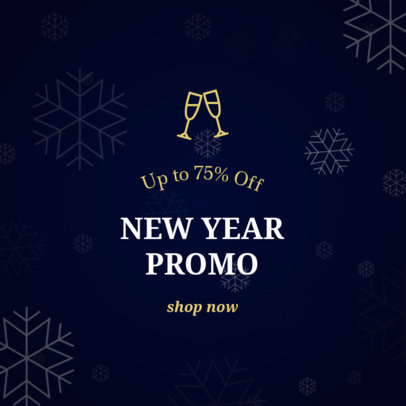 Holiday Banner Maker for a New Year Promo and Discount 787d-1819