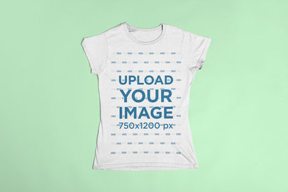 T-Shirt Mockup on Flat Surface 23845